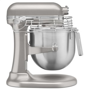 KitchenaidNSF Certified® Commercial Series 8 Quart Bowl-Lift Stand Mixer with Stainless Steel Bowl Guard - Nickel Pearl