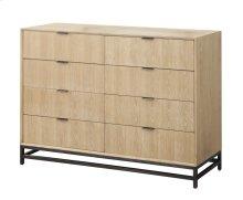 Emerald Home Aden 8 Drawer Dresser W/metal Base Wood-linen, Metal-charcoal B735-01