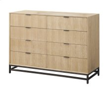 Emerald Home Aden 8 Drawer Dresser W/metal Base Wood-linen, Metal-charcoal B735-01