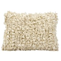 """Shag Dl658 Beige 14"""" X 20"""" Throw Pillow Product Image"""