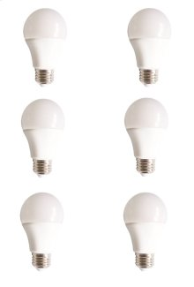 LED A19, 5000K, 160°, CRI80, UL, 10W, 60W EQUIVALENT, 15000HRS, LM800, NON-DIMMABLE, 3 YEARS WARRANTY, INPUT VOLTAGE 120V 6 PACK