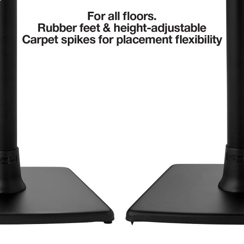 Black- Place your compact speakers right where you need them. Robust, heavy-duty design.