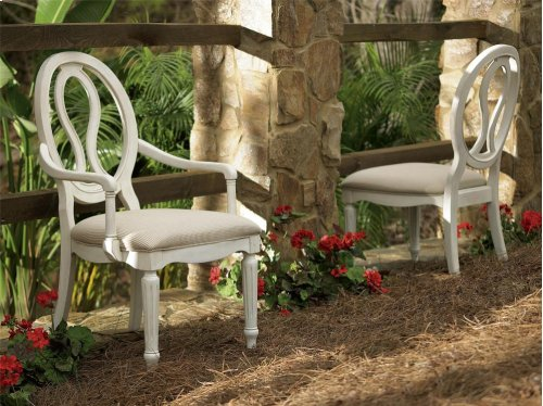 Pierced Back Arm Chair - Cotton