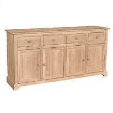B-4 4 Door Buffet also Available with 4 Door Hutch (sku H-4B)