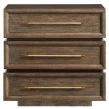 Panavista Triptych Nightstand in Quicksilver