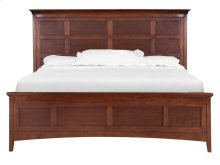 Complete King Panel Bed with Storage Rails