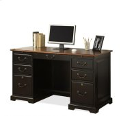 Bridgeport 54-Inch Desk Burnished Cherry/Antique Black Product Image