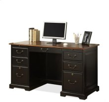 Bridgeport 54-Inch Desk Burnished Cherry/Antique Black