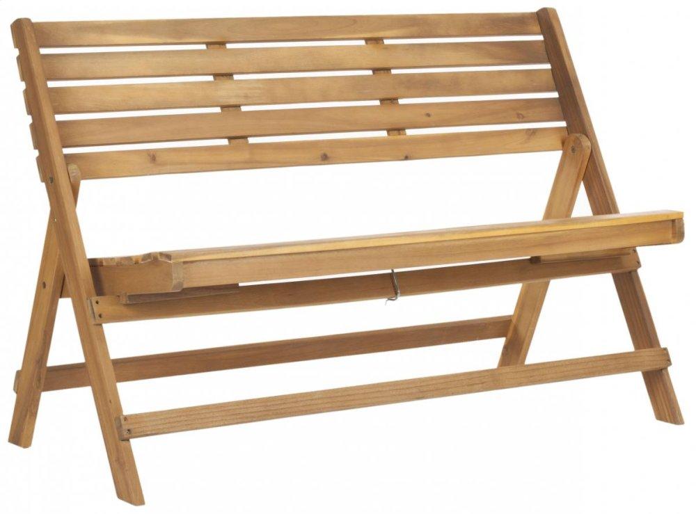 Luca Folding Bench - Natural Brown