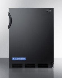 Commercially listed freestanding all-refrigerator for general purpose use, with flat door liner, automatic defrost operation and black exterior-CLOSEOUT