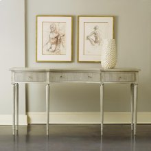 Ribbed Drawer Console, Antique Grey