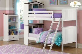 Twin/Twin Bookcase Bunk Bed