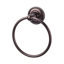 Edwardian Bath Ring Rope Backplate - Oil Rubbed Bronze