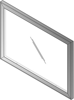 Napa Glass Modesty Panel, Fits Nap201 & Nap289