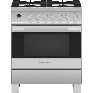"FISHER & PAYKELDual Fuel Range 30"", Self-Cleaning"