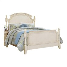 CAL KING BED, WHITE
