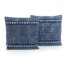 Tribal Print Indigo Pillow, Set of 2-20""