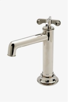 Henry One Hole High Profile Bar Faucet , Metal Cross Handle STYLE: HNKM40