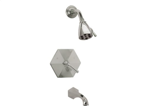Pressure Balance Tub and Shower Set Lever Handle - Satin Nickel