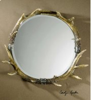 Stag Horn Round Mirror Product Image