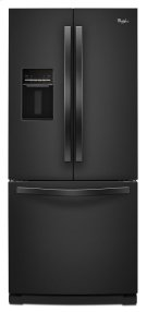 "19.6 cu. ft. Whirlpool® 30"" French Door Refrigerator with Exterior Water Dispenser Product Image"