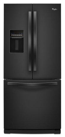 "19.6 cu. ft. Whirlpool® 30"" French Door Refrigerator with Exterior Water Dispenser"