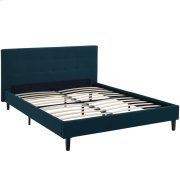 Linnea Queen Upholstered Fabric Bed in Azure Product Image