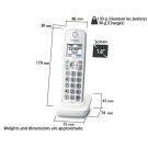 KX-TGDA59W Handsets Product Image