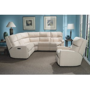FLEXSTEELCatalina Leather Reclining Sectional