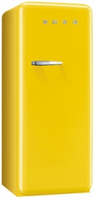 50'S Style Refrigerator with ice compartment, Yellow, Right hand hinge
