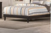Lawler Footboard & Rails - King - Brown Faux Leather