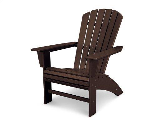 Mahogany Nautical Curveback Adirondack Chair