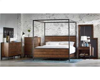 Industrial Framework Canopy Bedroom