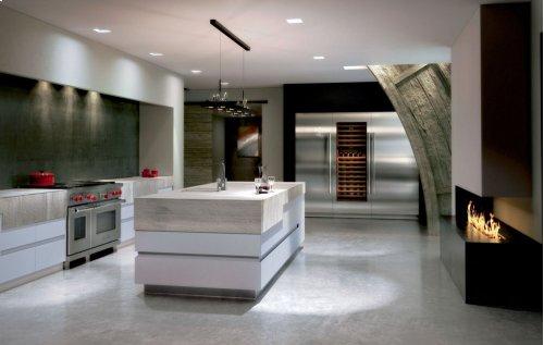 "36"" Integrated Column Refrigerator with Internal Dispenser - Panel Ready"