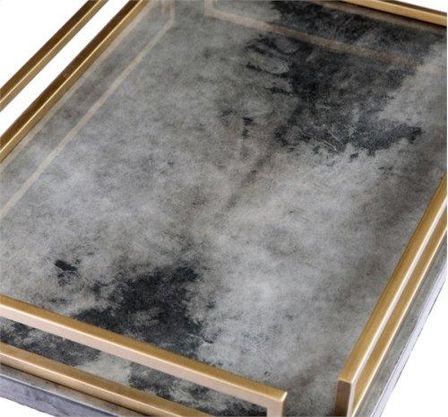 Seraphina Tray - Charcoal Vellum