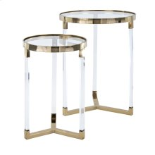 NK Verrill Acrylic and Glass Tables - Set of 2