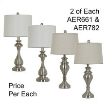 """28""""TH METAL TABLE LAMP, 4PCS ASSORTED PACK, 3.35'"""