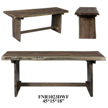 45x15x18 Acacia Wooden Bench (Dark finish),1 kd pk/2.77'