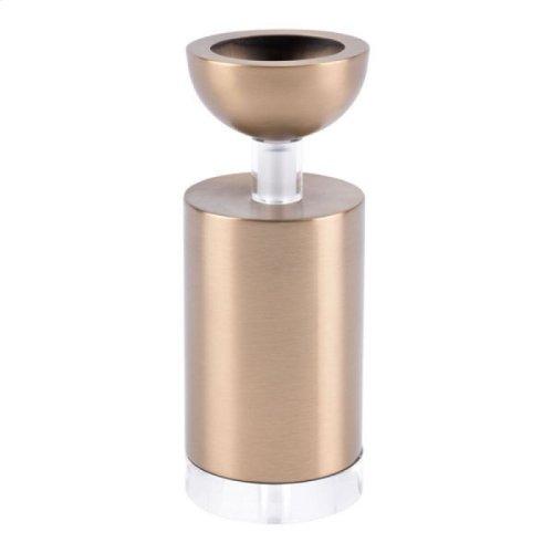 Cilinder Candle Holder Sm Gold