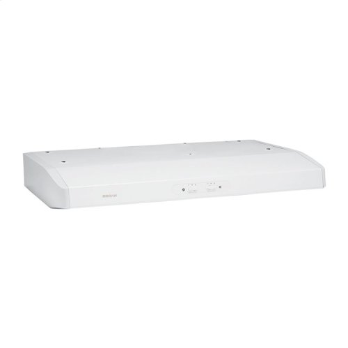 "Broan 290 CFM 30"" wide, ENERGY STAR® Certified Undercabinet Range Hood in White"