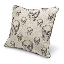 Sweet Dreams Large Square Pillow- Skalle/ Bone