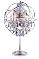 "1130 Geneva Collection Table Lamp D:22"" H:34"" Lt: Polished nickel Finish (Royal Cut Silver Shade Crystals) Product Image"