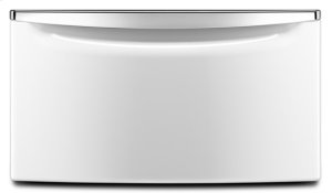 """15.5"""" Laundry Pedestal with Chrome Handle and Storage Drawer - C4"""
