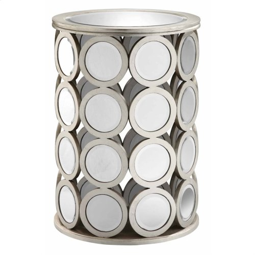 Mirrored Circle Drum Table