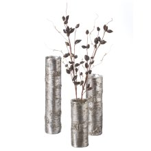 Silver Birch Finish Branch Vase (3 pc. set)