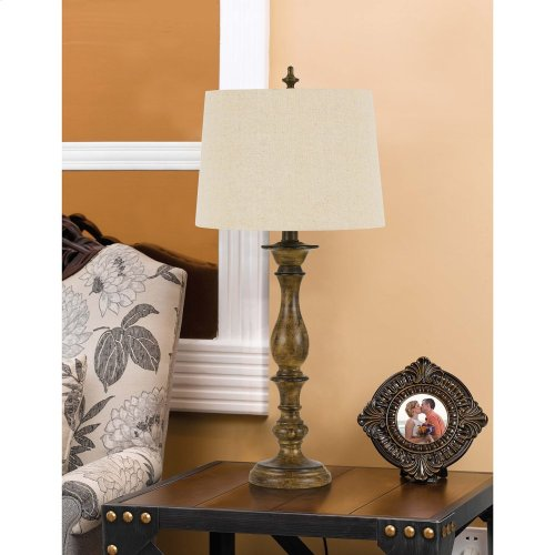 150W 3 Way Harrow Resin Table Lamp. Sold And Priced In Pairs