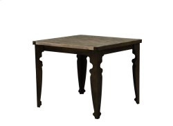 Square Gather Table-top Natural Reclaimed Pine Finish-black Wood Legs Product Image