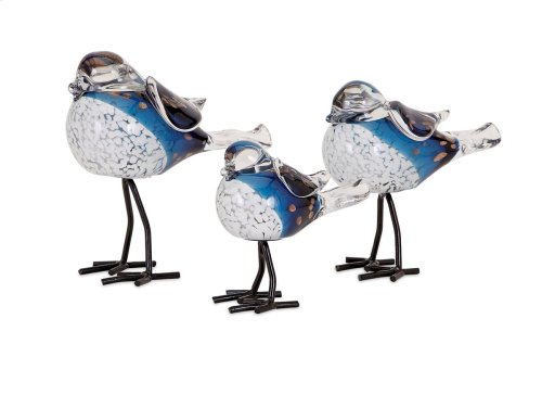 Chirp Bird Statuaries - Set of 3