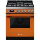 "Portofino Pro-Style All-Gas Range, Orange, 30"" X 25"" Product Image"