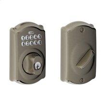 Camelot trim Keypad Deadbolt - Satin Nickel